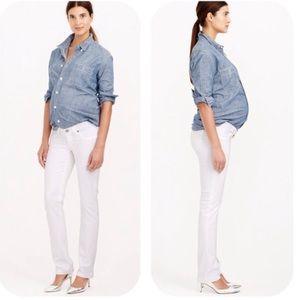 J Crew Matchstick White Maternity Jeans 28